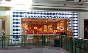 The updated look for Bath and Body Works.
