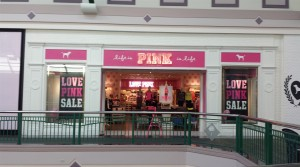 The new Pink Location at Arbor Place next to new Victoria's Secret location.