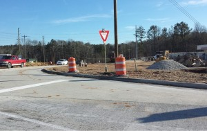 The Lee Rd Interchange project heading south.