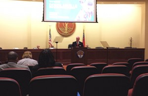Mayor Harvey Persons delivers the State of the City address in January