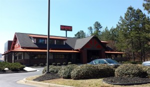 The updated look of Hooters complete with new signs for travelers on I-20 to make the stop.