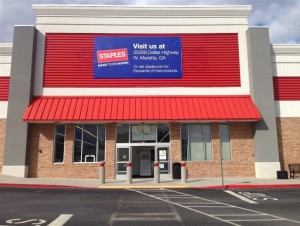 Former Staples Soon to be Bargain Hunt Superstores off Hwy 278 and 92.