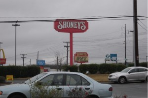 The long time iconic sign that greeted travelers on Thornton Rd, now gone.