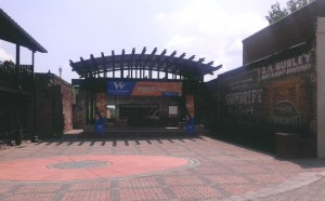 The beautiful plaza stage at O'Neal Plaza Downtown.