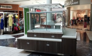 Smaller, compact and modern look to the new kiosks at Arbor Place