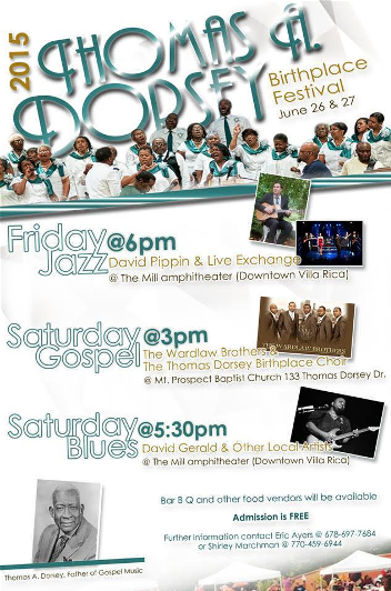 Event flyer for the Dorsey Birthplace Festival this weekend in Villa Rica
