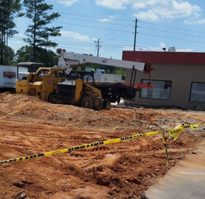 Construction ongoing at The Farmer's Table off Hwy 5 and Central Church Rd.