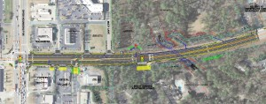 The GDOT map of the Maxham Rd project