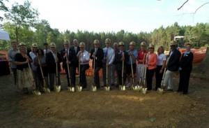 The Mayor, City Council of Villa Rica and The West Georgia Regional Library officials on hand for today's groundbreaking ceremony