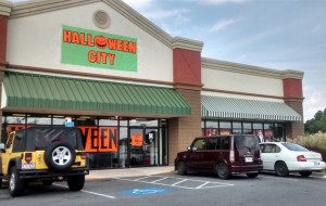 Halloween City, the Temporary Halloween store setup now in the former Anna's Linens on Chapel Hill. Photo Credit: Tami Acree