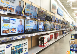 The Electronics Department, easily one of the busiest in the store