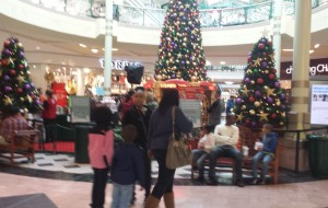 Santa, now thru 12/24, one of the many holiday additions to Arbor Place