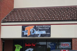 The new home for The T Designer on Hwy 5 behind Chick Fil A